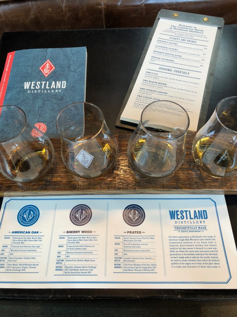 Westland Distiller Whiskey Flight